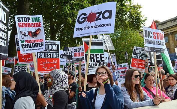 Anti-Israel protest, London, England