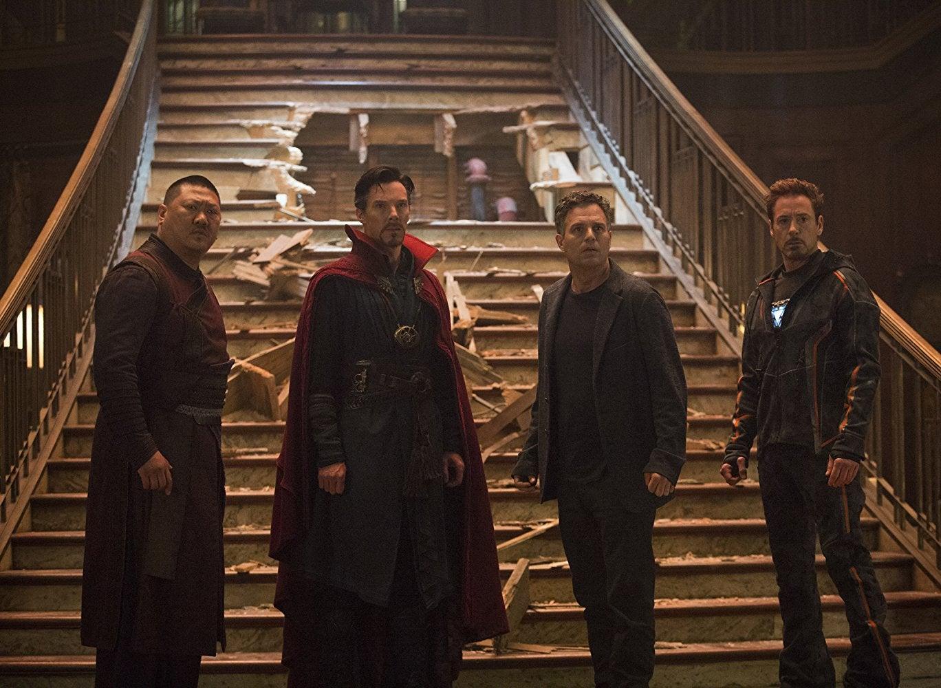 Benedict Wong, Benedict Cumberbatch, Mark Ruffalo, and Robert Downey Jr.