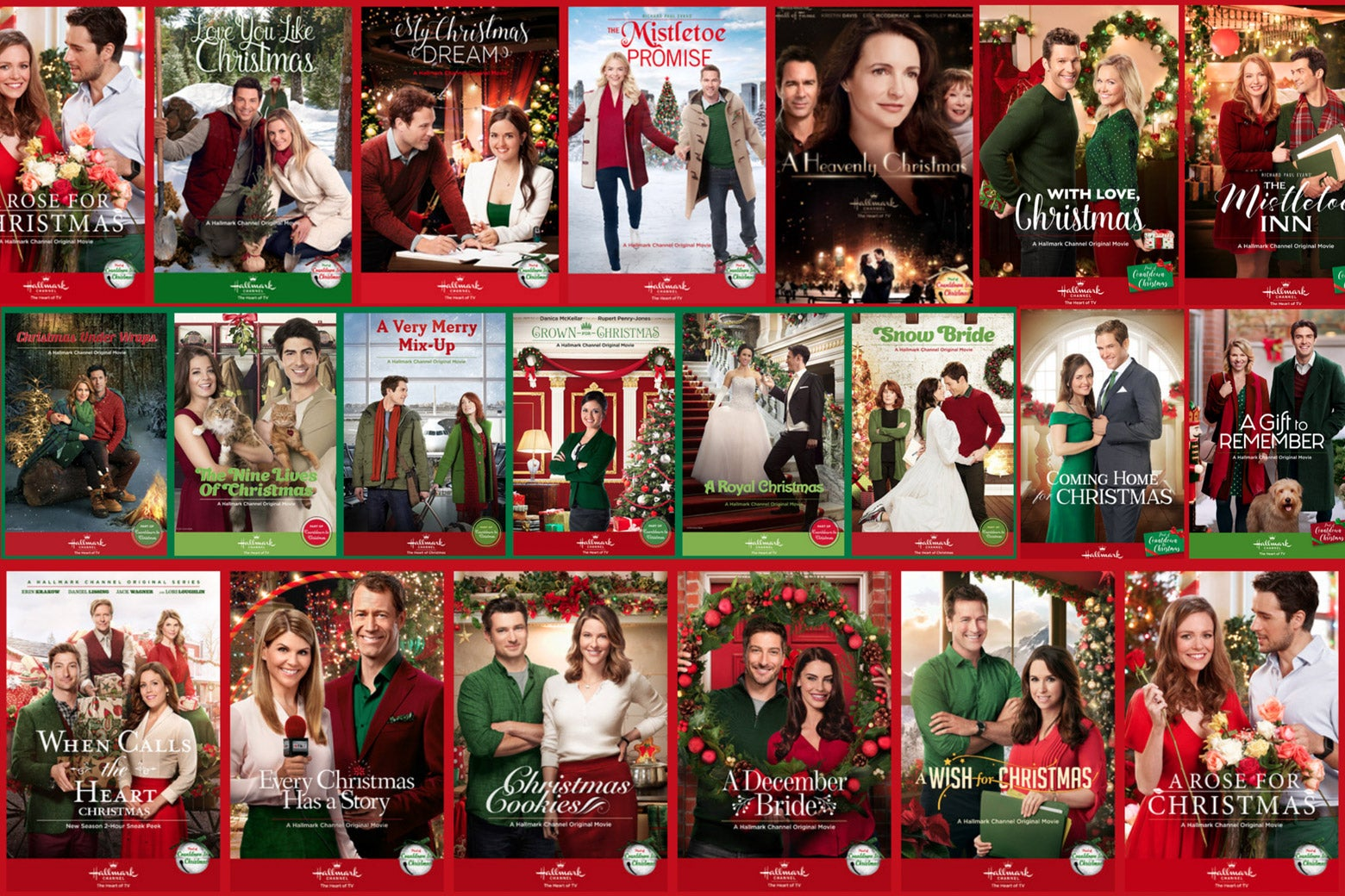 Hallmark holiday movies.