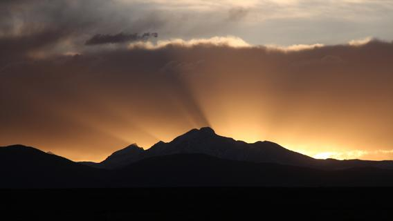 Longs Peak sunset
