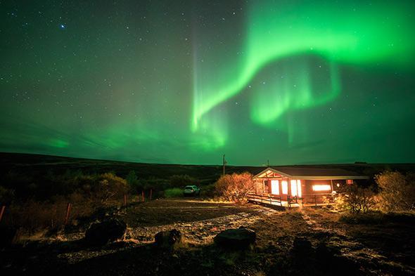 Iceland's bright aurora