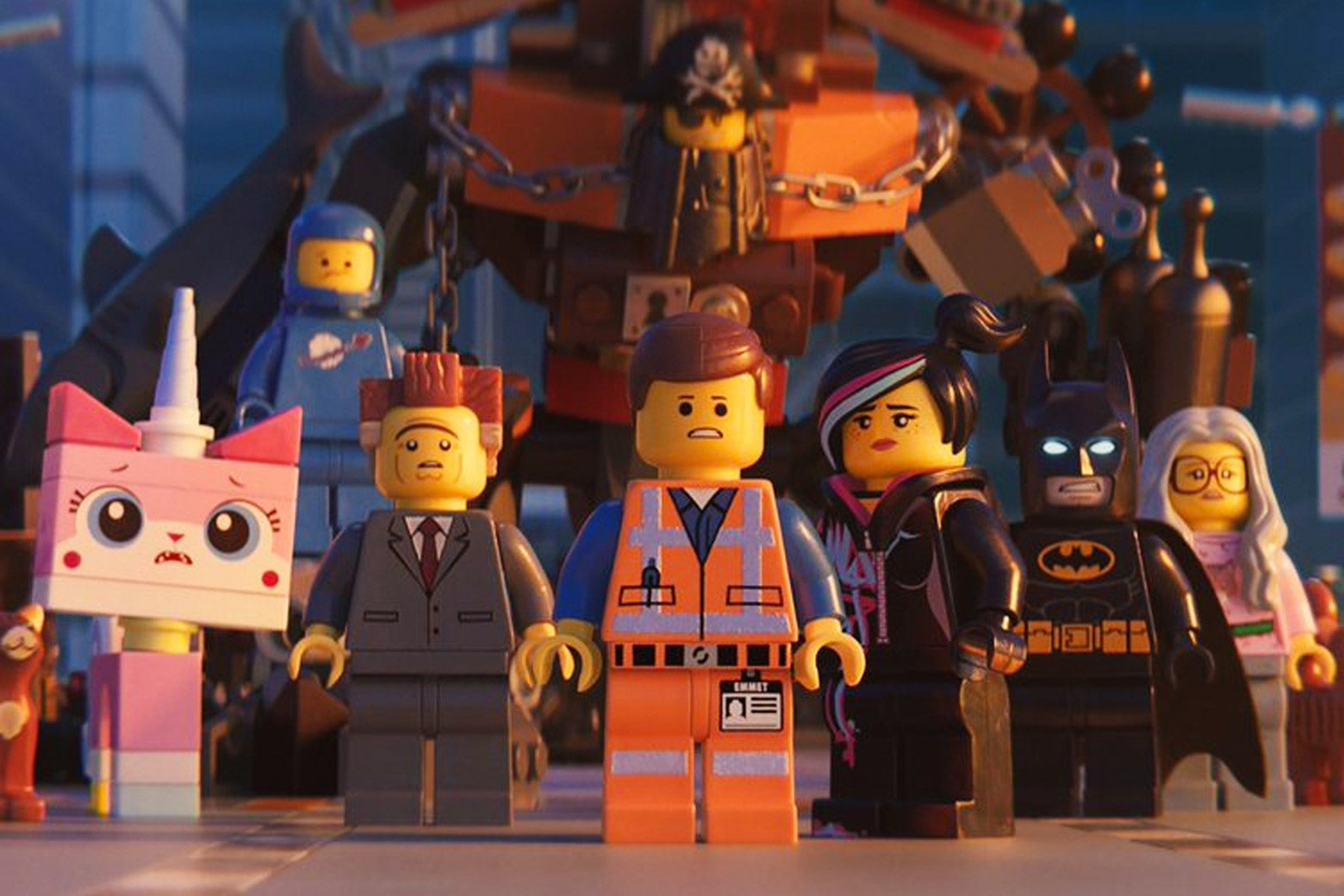 A variety of figurines from the The Lego Movie 2.