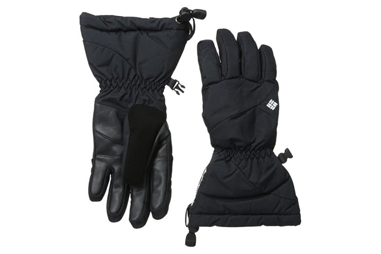 A pair of black gloves.