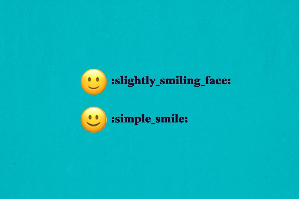 What does blushing smiley mean