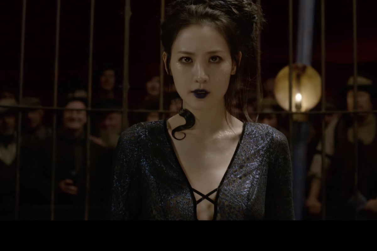 Claudia Kim as Nagini in the new Fantastic Beasts: The Crimes of Grindelwald trailer
