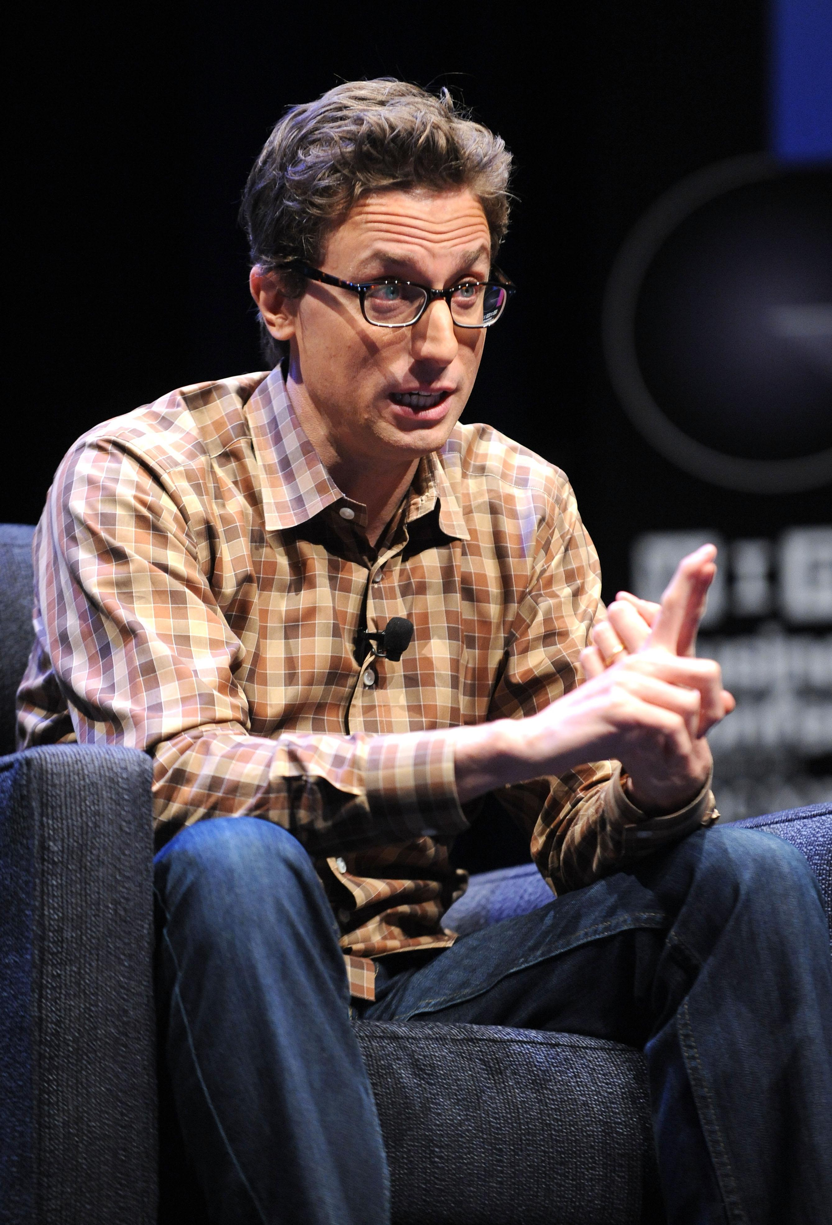 Founder and CEO of BuzzFeed, Jonah Peretti speaks at the Wired Business Conference: Think Bigger, at Museum of Jewish Heritage, May 7, 2013 in New York City.
