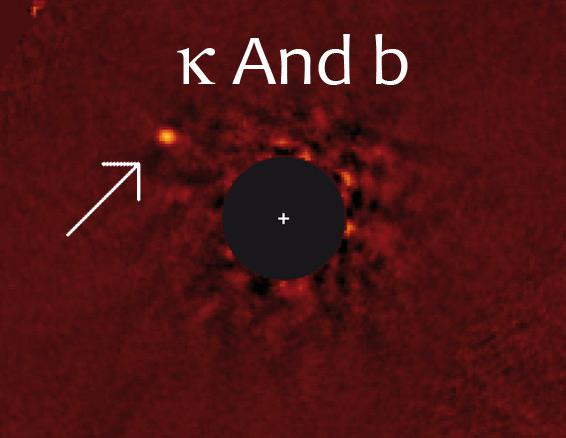 Exoplanet Kappa Andromeda b, one of the very few planets directly seen in a picture.