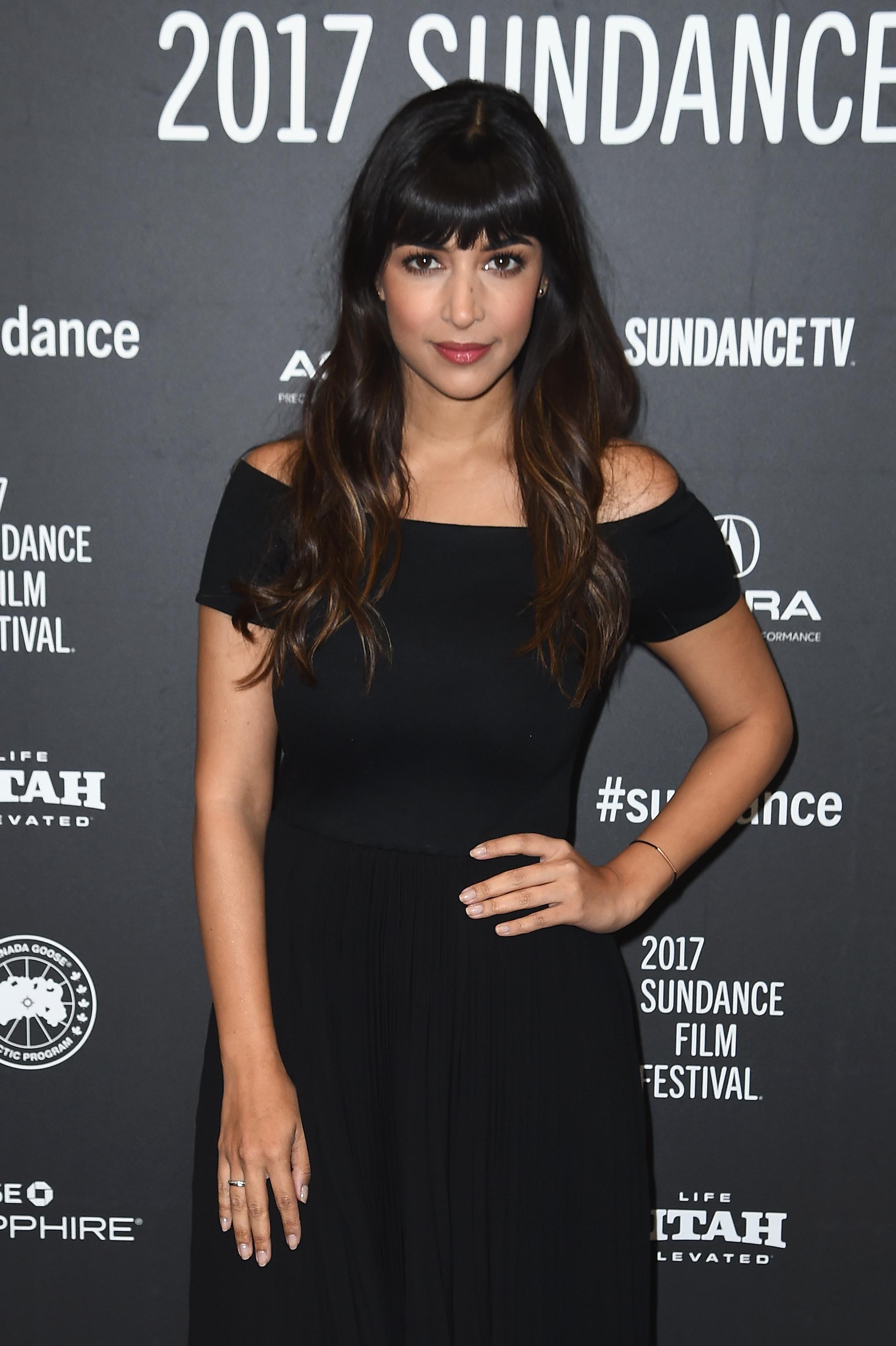 Hannah Simone at Sundance in 2017.