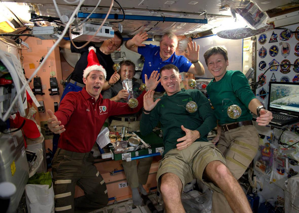 Space Station Crew Celebrates the Holidays