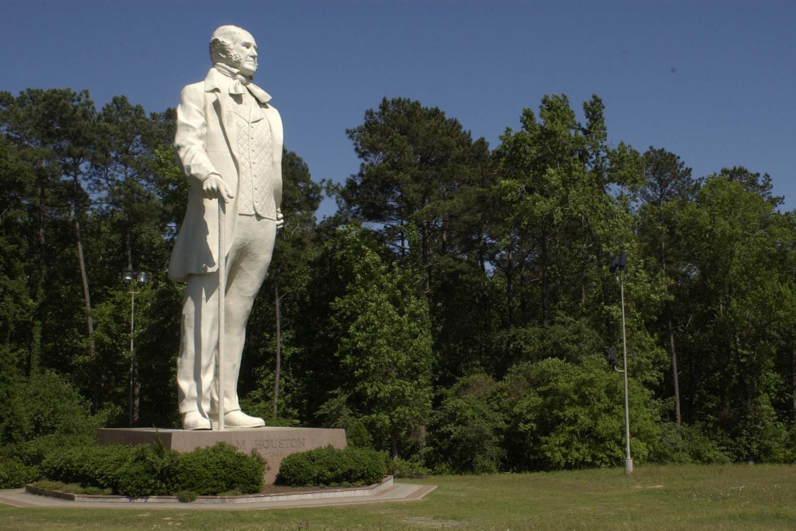David Adickes' Sam Houston statue, as seen south of Huntsville, Texas, on May 4, 2004.