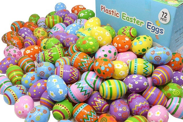 Joyin 72 Piece Plastic Easter Eggs