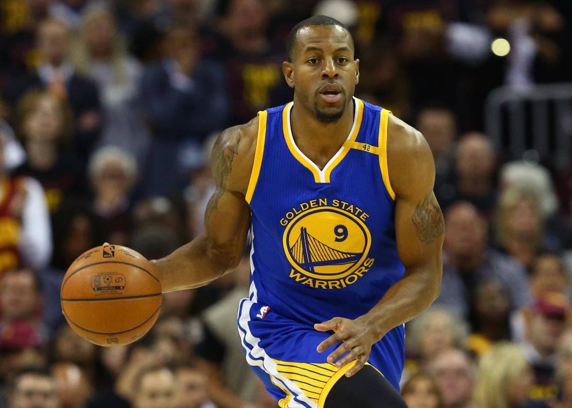 official photos 5d668 ac511 Andre Iguodala saved Game 3 with a block on LeBron James.