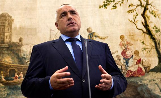 Bulgarian Prime Minister Boiko Borisov gives a press conference in June with his Portuguese counterpart at the Sao Bento palace in Lisbon.