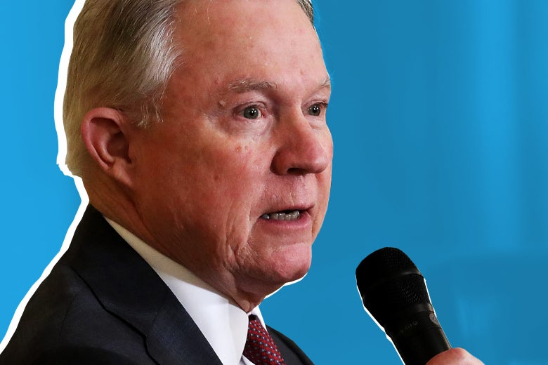 Attorney General Jeff Sessions speaks at a White House Opioid Summit March 1 in Washington.