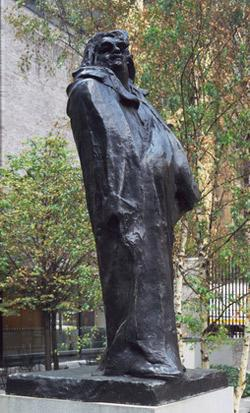 Rodin's Balzac sculpture at the MoMA.