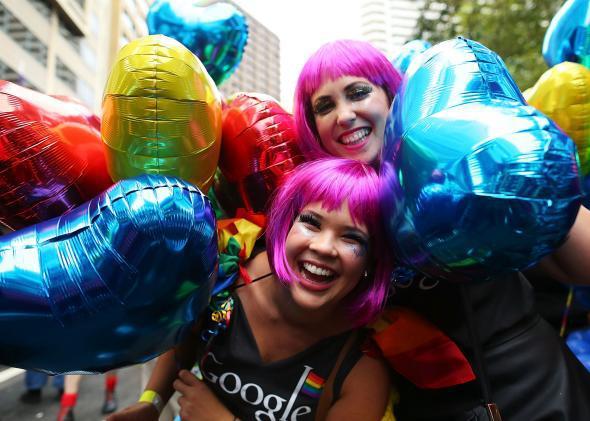 Lesbians at Sydney Mardi Gras