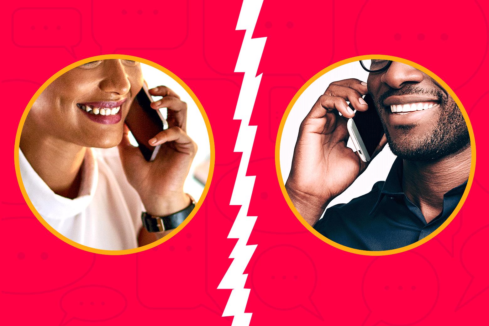 Online dating and phone calls during coronavirus.