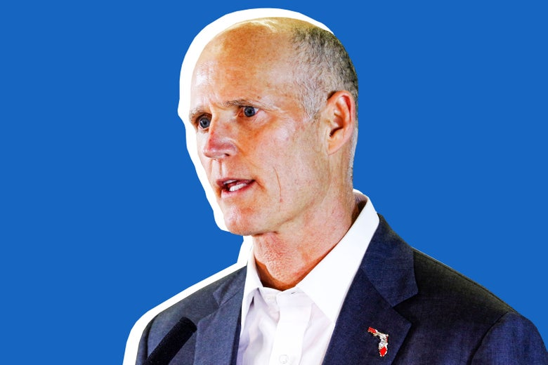 Florida Gov. Rick Scott speaks to the media in Miami on March 15.
