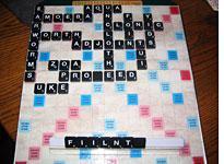 The game board vs. Brian, mid-match