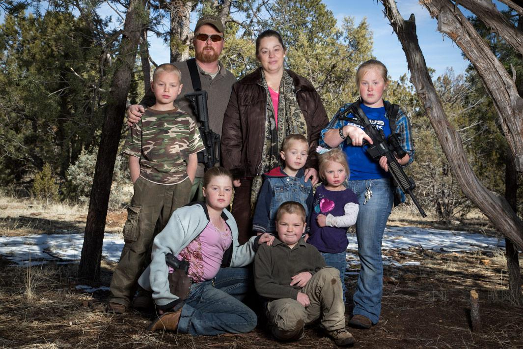 Brian and Sheila Moffatt with their children at their home on Feb. 23, 2013, in Overgaard, Ariz.