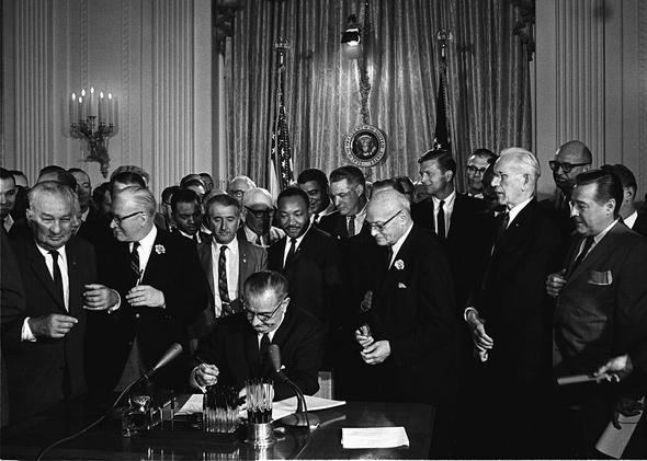 Gay Marriage Essay Thesis President Lyndon B Johnson Signs The  Civil Rights Act As Martin  Luther King English Essay Writing Help also Essay English Example Affirmative Action Its Time For Liberals To Admit It Isnt Working High School Application Essay Sample
