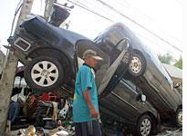 Tsunami damage in Thailand