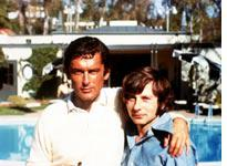 Robert Evans (left) buddies up with Roman Polanski