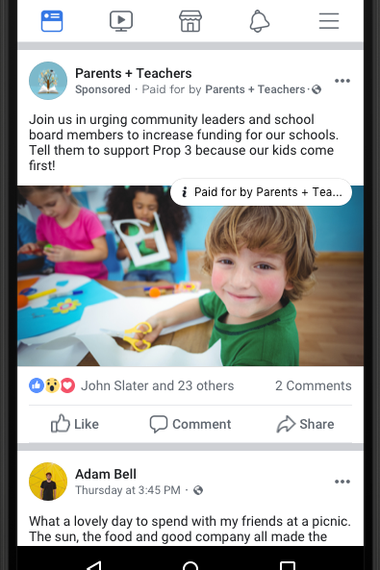 What Facebook ads will look like.