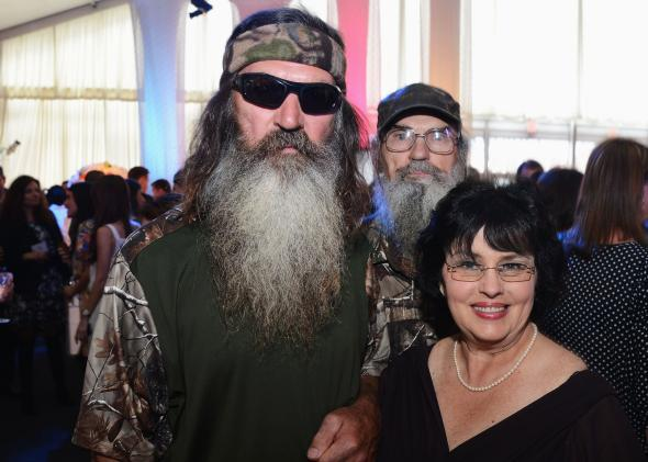 Phil Robertson and Miss Kay Robertson at the 2012 A&E Networks Upfront.