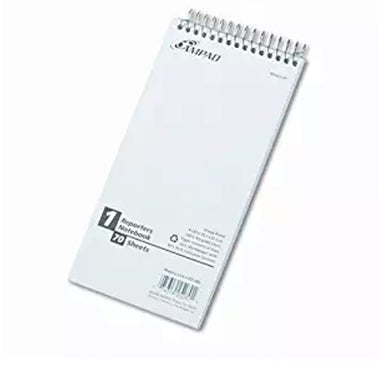 A white notebook.
