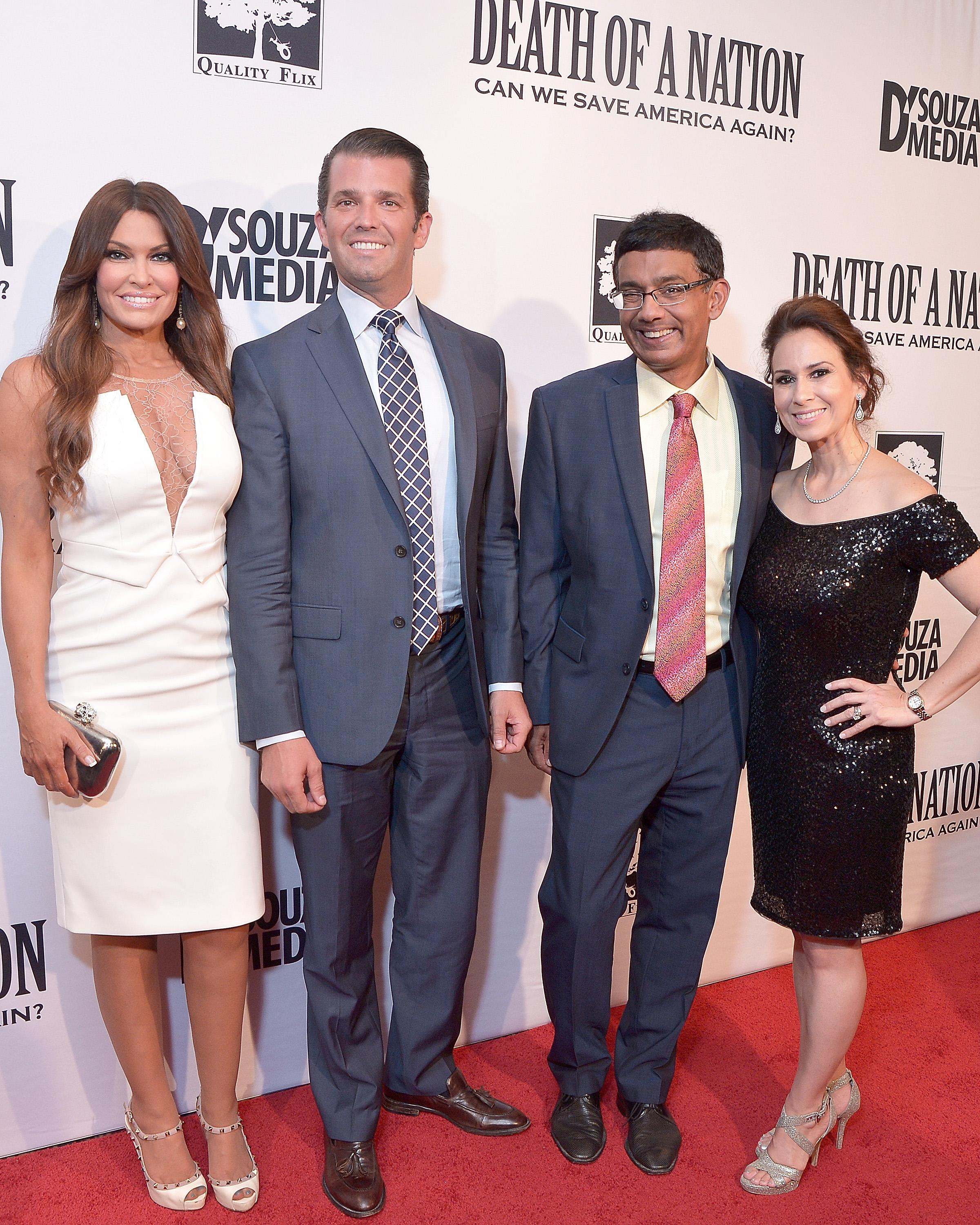 Kimberly Guilfoyle, Donald Trump Jr., Dinesh D'Souza, and Debbie Fancher attend the DC premiere of the film Death of a Nation on August 1, 2018 in Washington, D.C.
