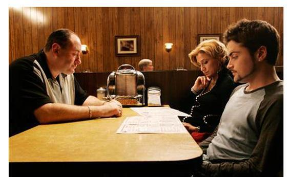 The Sopranos series finale.