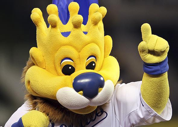 Kansas City Royals mascot Sluggerrr