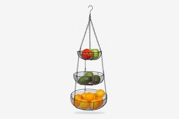 Home Intuition 3-Tier Hanging Basket Heavy Duty Wire.