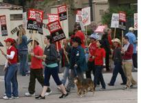 Writers on strike at Prospect Studios