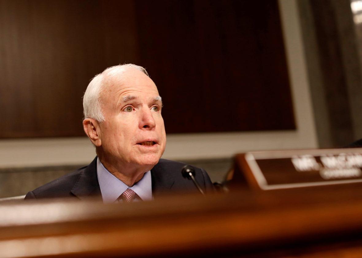 Committee chairman Senator John McCain