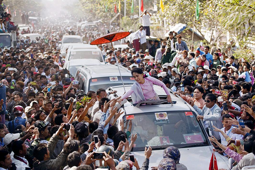 Feb. 13, 2015: Natmauk, Myanmar