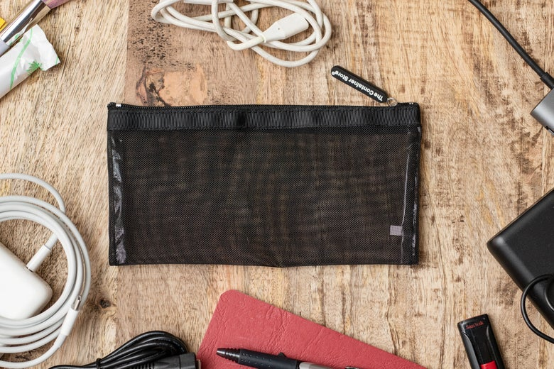 The Container Store Black Micro Mesh Pouches
