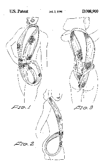 One piece body thong patent illustration.