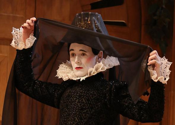 Mark Rylance in Twelfth Night as Viola.