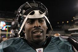 Michael Vick #7 of the Philadelphia Eagles. Click image to expand.