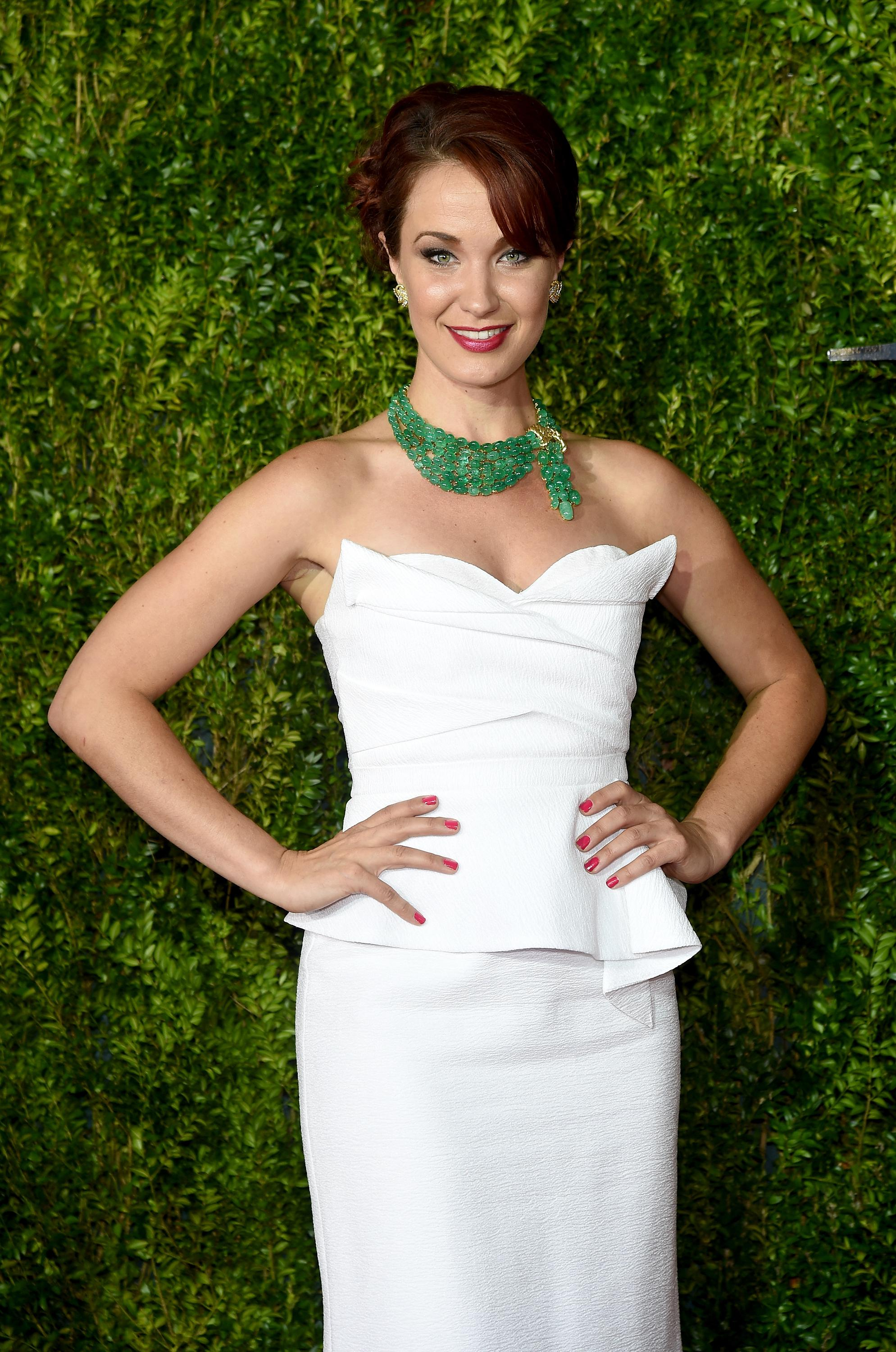 Sierra Boggess attends the 2015 Tony Awards at Radio City Music Hall on June 7, 2015 in New York City.