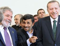 Brazilian President Luiz Inacio Lula da Silva, Iranian President Mahmoud Ahmadinejad, and Turkish Prime Minister Recep Tayyip Erdogan. Click image to expand.