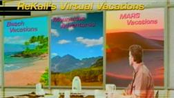 In Total Recall, Arnold Schwarzenegger hired a company to plant a virtual vacation in his memory. In real life, the virtual vacations were packaged with the movie on DVD. Click image to expand.