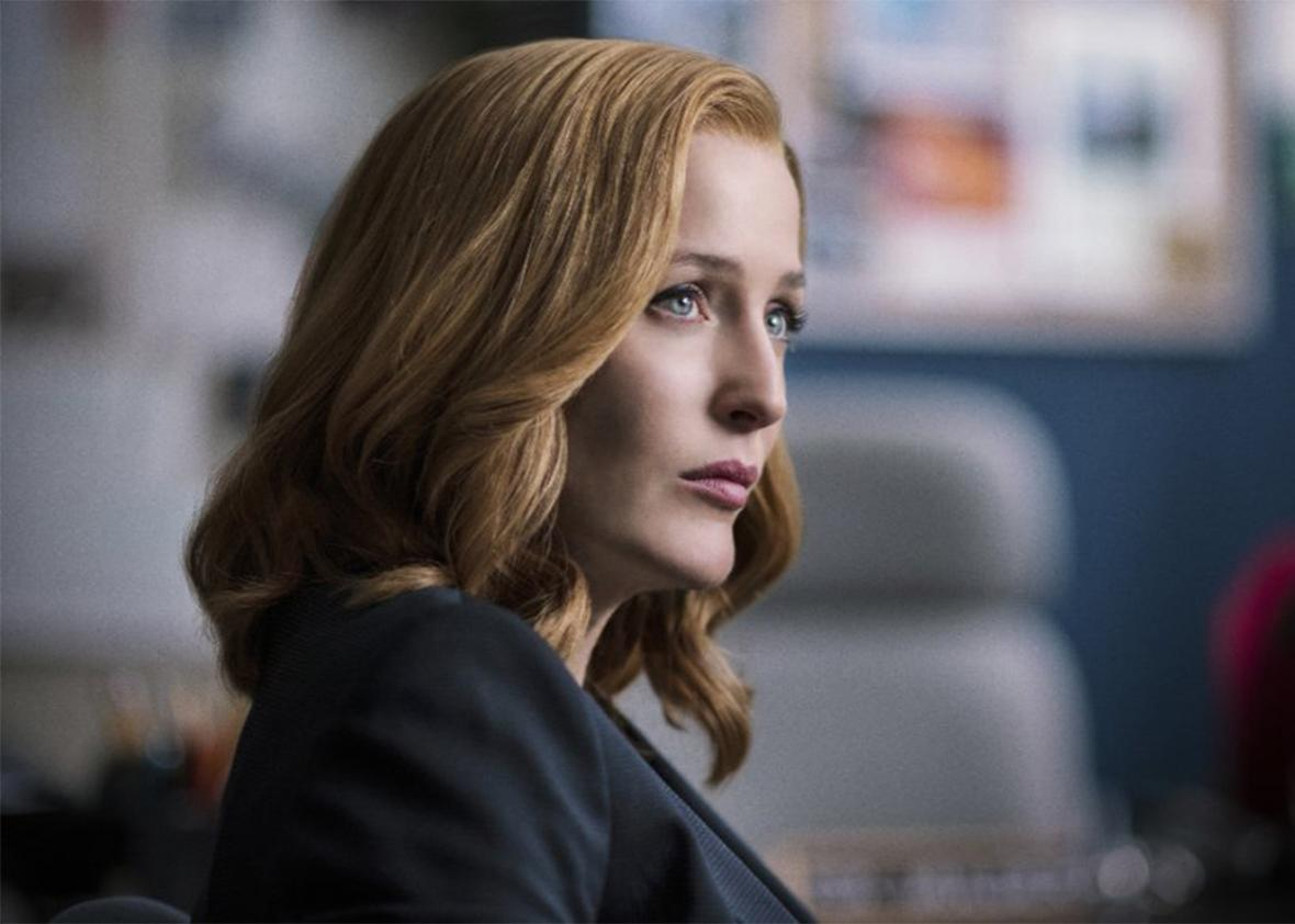 Still of Gillian Anderson in The X-Files.
