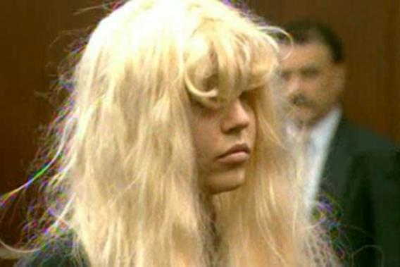 Actress Amanda Bynes appears in a Manhattan courtroom in New York, denying charges of possessing marijuana and tossing a bong out of the window of her 36th-floor Manhattan apartment on May 24, 2013.