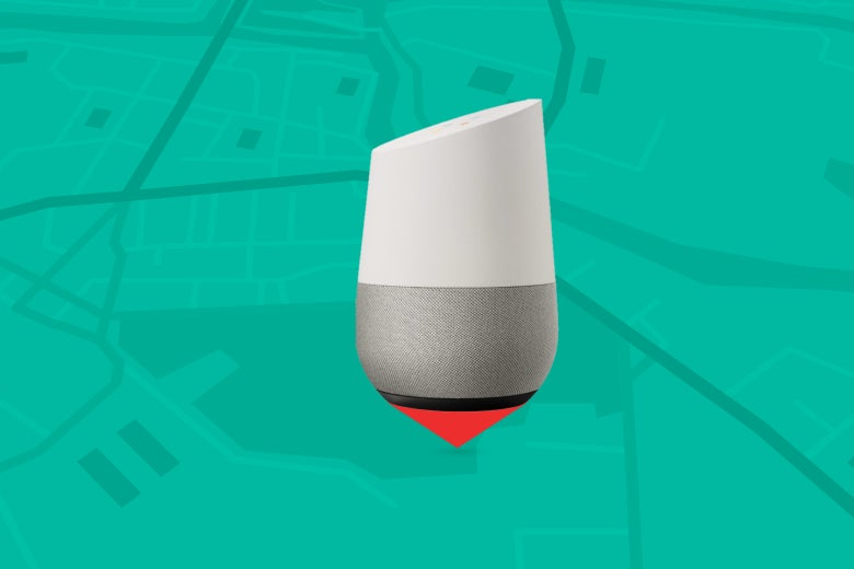 Google Home and map.