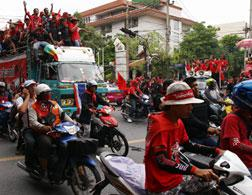 Red Shirt protesters in Bangkok, Thailand. Click image to expand.