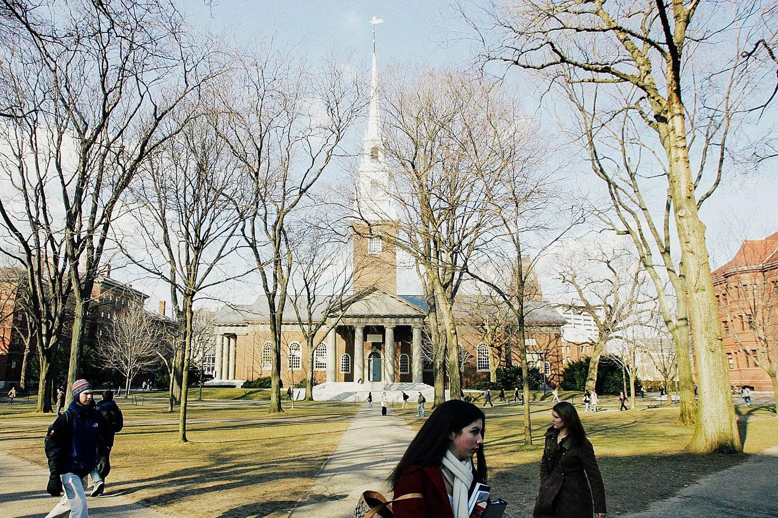 Still of Harvard University in Cambridge, Massachusetts, as seen in 2006.
