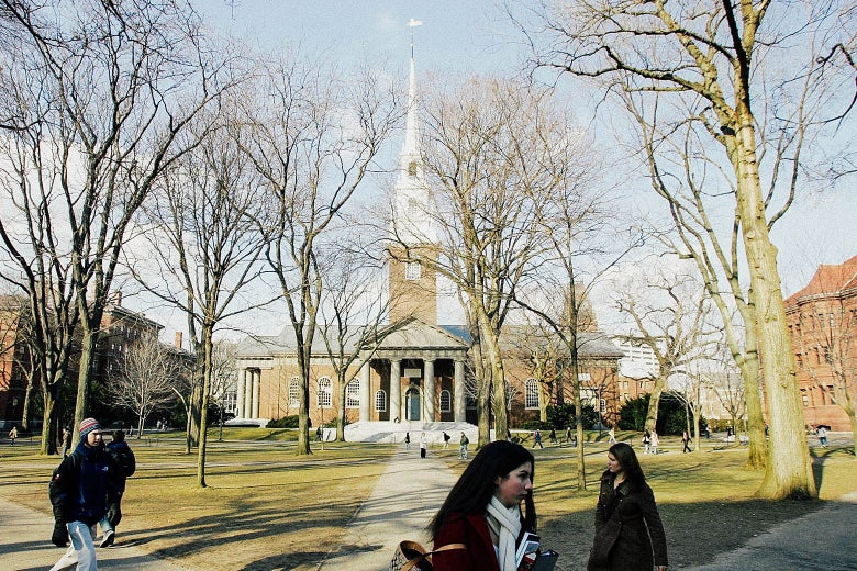Still of Harvard University in Cambridge, Massachusetts, as seen in 2006.